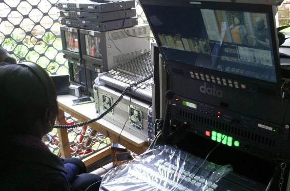 OBV-(Outside Broadcast Van) WITH DATA VIDEO MATHER BOAD HS-2800 or HS 3000 VISION MIXERS